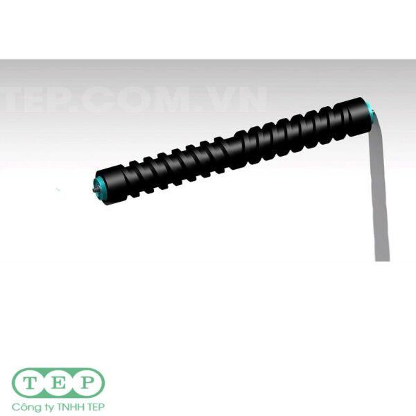Con lăn hồi cao su xoắn - Rubber spiral return roller