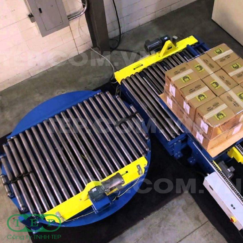 Dàn con lăn xoay chuyển hướng - Turnable roller conveyor