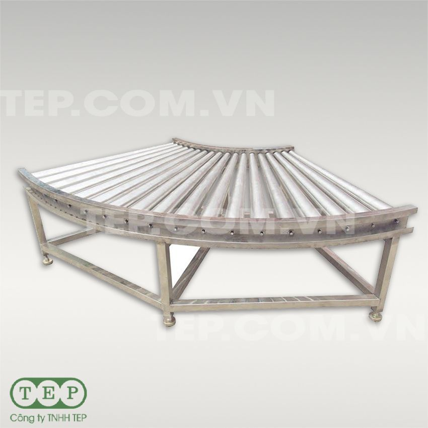 Dàn con lăn cong - Curver roller conveyor