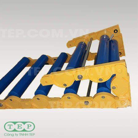 Dàn con lăn nhựa cuốn - Convertible PVC roller conveyor