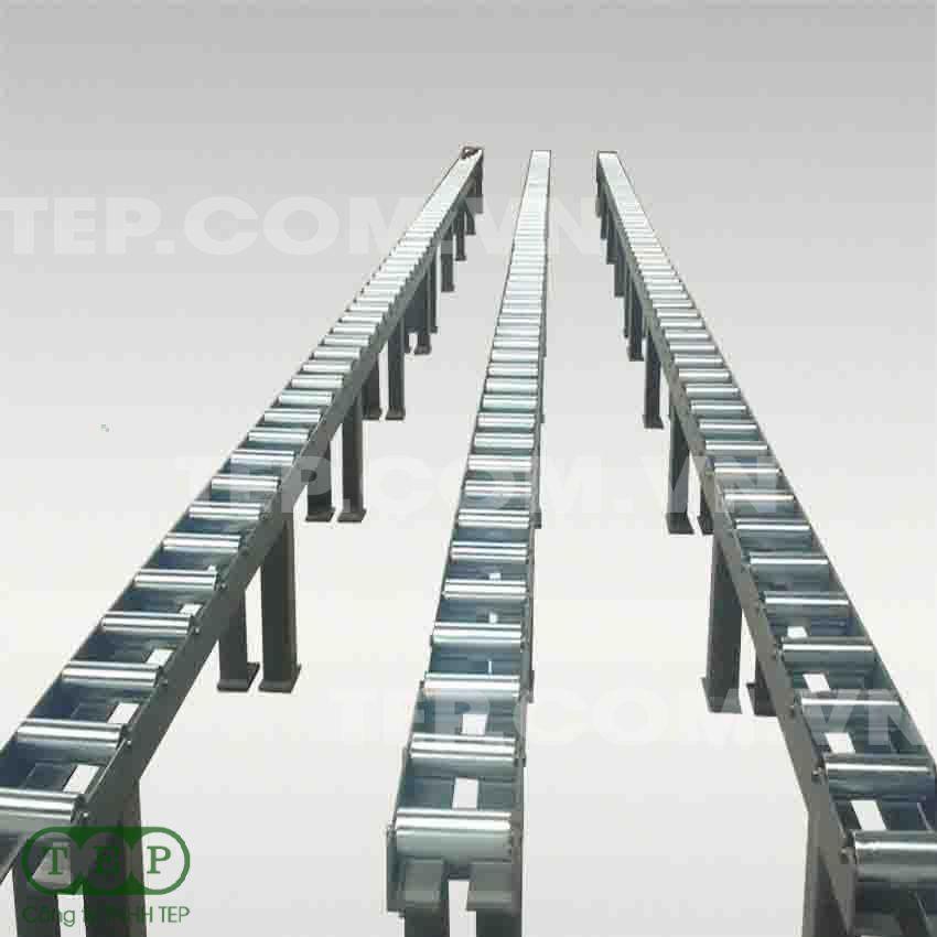 Dàn con lăn thẳng- Staging roller conveyor
