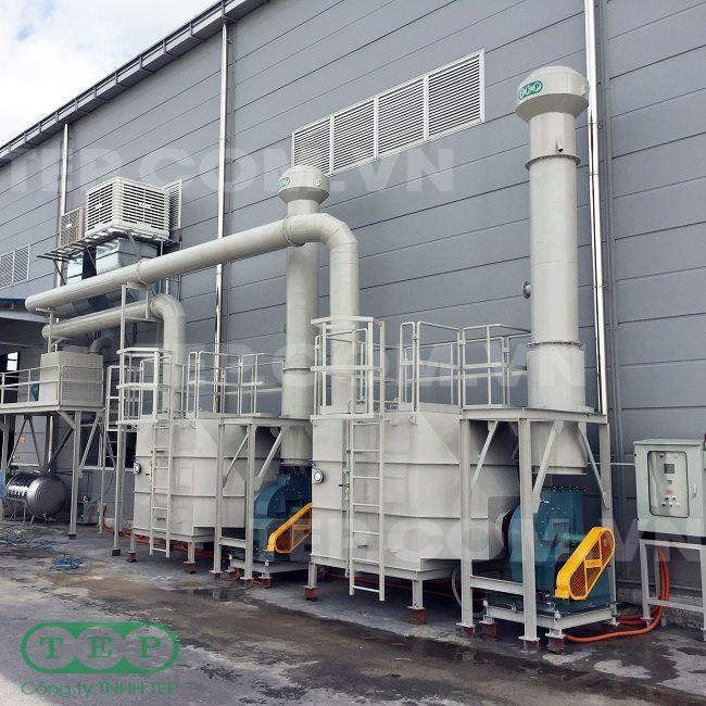 Tháplọc than hoạt tính máy ép nhựa - Activated carbon tower