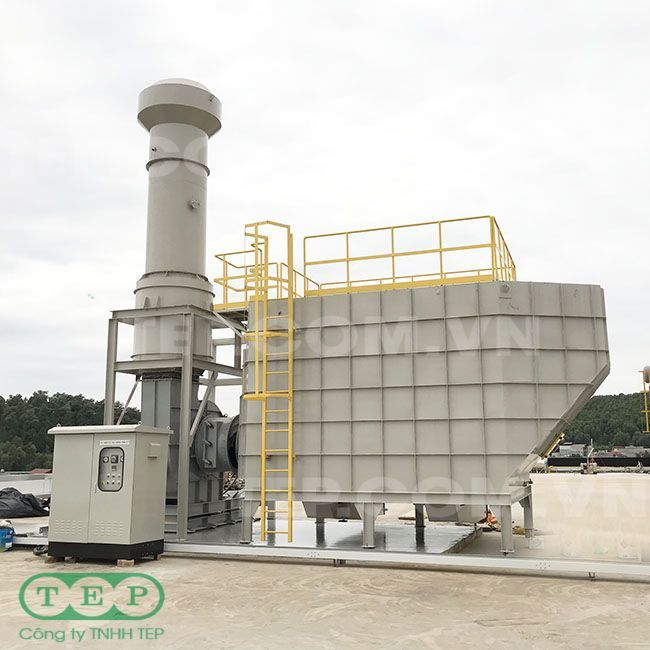 Tháp lọc than hoạt tính - Activated carbon tower