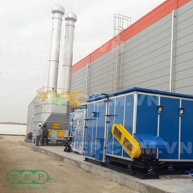 Tháp lọc than hoạt tính - Activated carbon tower
