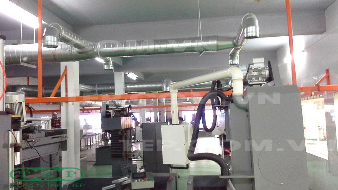 Hệ thống đường ống hút bụi dây chuyền đánh bóng - Polishing hose