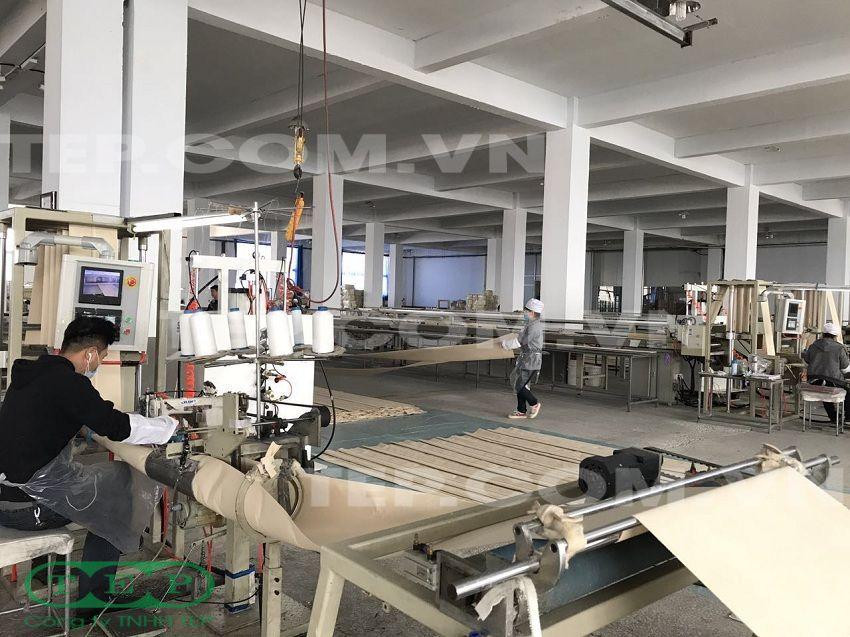 Dây chuyền sản xuất túi vải lọc bụi - Filter bag production machinery