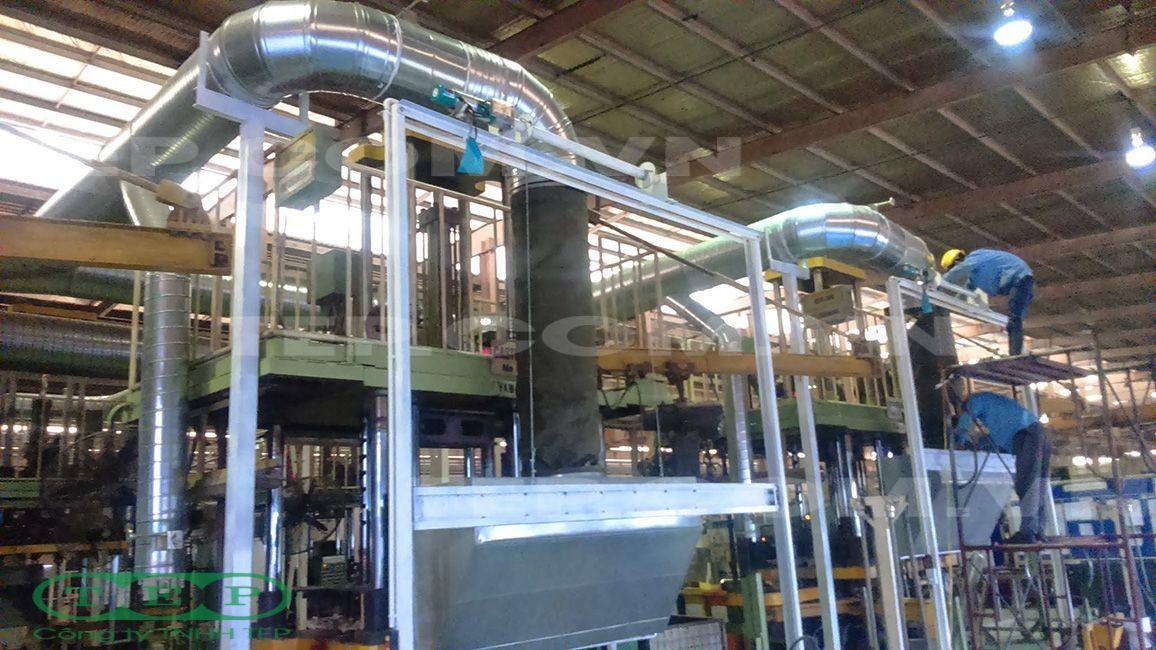 Hệ thống đường ống xoắn thu bụi - Spiral duct